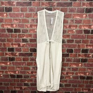 🆕Beach-chic Pointelle Detail Vest in Sand Color